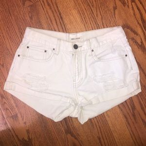 Billabong White Denim Shorts